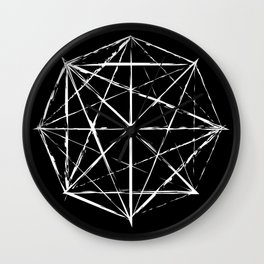 Octagon Diagonals Wall Clock