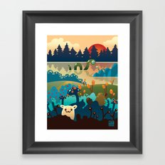 Eventide at Animalculia Framed Art Print