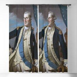 George Washington Painting Work Blackout Curtain