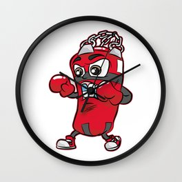 PUNCHING BAG GUY Boxing Boxer Cartoon Comic Gift Wall Clock