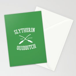 Hogwarts Quidditch Team: Slytherin Stationery Cards