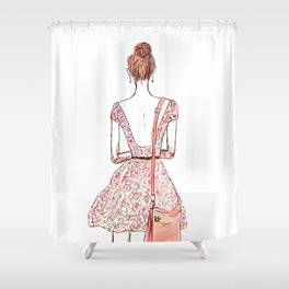 Courage Is The Absence Of Fear Shower Curtain