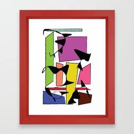 Skewed & Abstract Framed Art Print