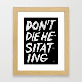 Hesitation Framed Art Print