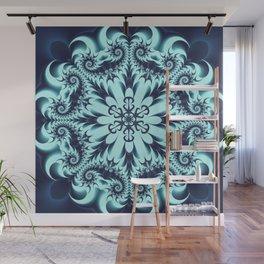 The Blue Snowflake I Wall Mural