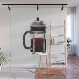 French Press - Red Wall Mural