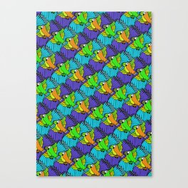 Tessellated Parrots Canvas Print