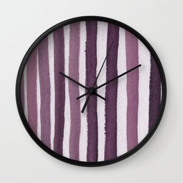 Rosy Stripe Abstract Painting Wall Clock