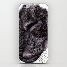 Cat illustration iPhone & iPod Skin