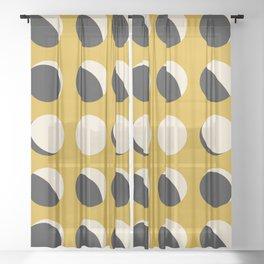 Moon Phased in Honey Sheer Curtain