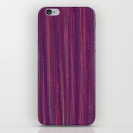 Stripes  - purple and red iPhone Skin