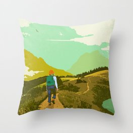 WARM TRAILS Throw Pillow
