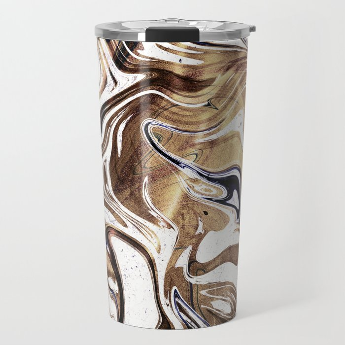 Liquid Bronze and Marble Travel Mug