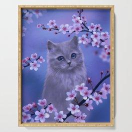 Spring kitten Serving Tray