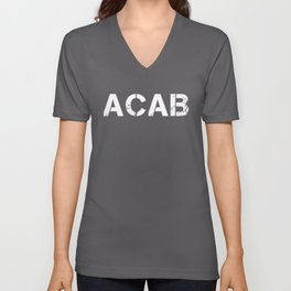 ACAB A.C.A.B. ALL COPS Gift T-Shirt Unisex V-Neck