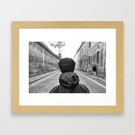 Finding the right way Framed Art Print