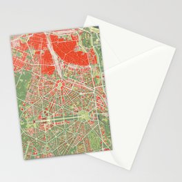 New Delhi map classic Stationery Cards