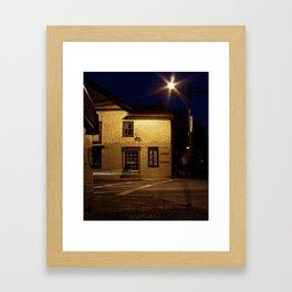 Street at Night Framed Art Print