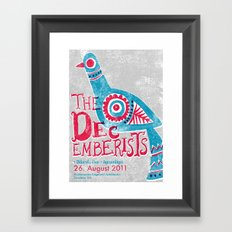 The Decemberists Gigposter Framed Art Print