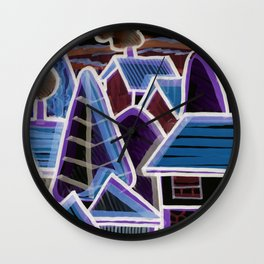 Color Landscape at Night | Piliscsév, Hungary Wall Clock