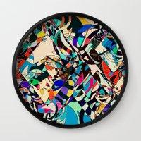 harley Wall Clocks featuring Harley by Glanoramay