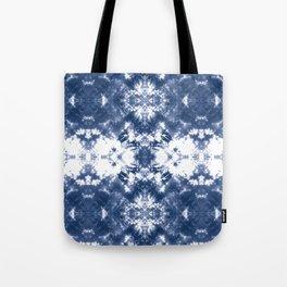 Shibori Tie Dye 4 Indigo Blue Tote Bag