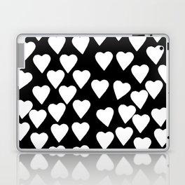 Hearts White on Black Laptop & iPad Skin