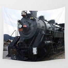 Vintage Railroad Steam Train Wall Tapestry