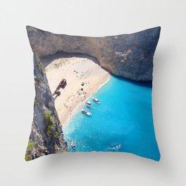 Hidden Beach & Shipwreck 2 Throw Pillow