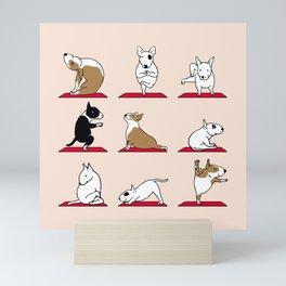 Bull Terrier Yoga Mini Art Print