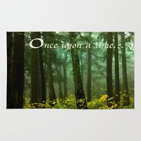 once upon a  time Area & Throw Rugs featuring Once upon a time... by Armine Nersisian