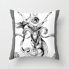 Sea Goat Throw Pillow