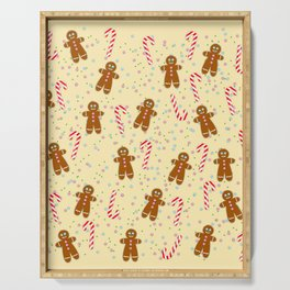 Gingerbread man wishes you Merry Xmas! - Beige Serving Tray