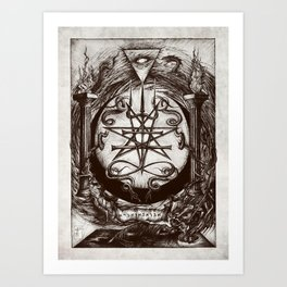 The Dreaming Abyss  Art Print