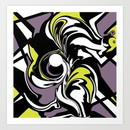 Abstract Fairy in Lime and Purple Art Print