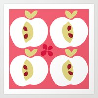 apple Art Prints featuring apple by ottomanbrim
