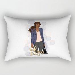 Wife Mom Boss | African American Lady Boss Rectangular Pillow