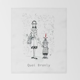 A Few Parisians by David Cessac: Quai Branly Throw Blanket
