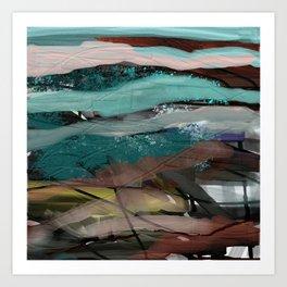 Layered Abstract Sunsets Art Print
