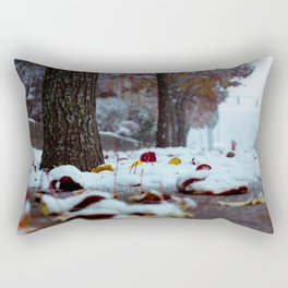 Snow storm exploration Rectangular Pillow