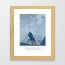 Jurassic Park poster - feat. Donald Gennaro Framed Art Print