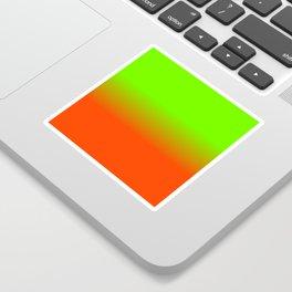 Neon Green and Neon Orange Ombré  Shade Color Fade Sticker
