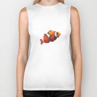 blur Biker Tanks featuring Blur Fish by foureighteen