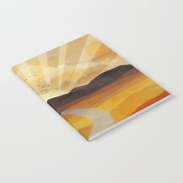Desert in the Golden Sun Glow II Notebook