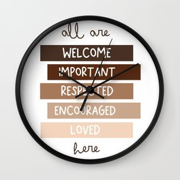 All are welcome - Kids Print Wall Clock