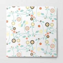 Tapestry pattern flower Metal Print