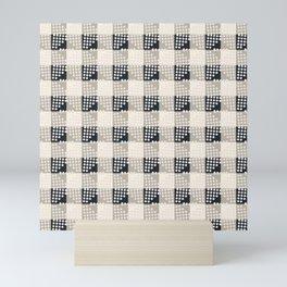 ANTHOLOGY OF PATTERN SEVILLE GINGHAM BLACK Mini Art Print