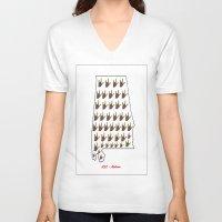 alabama V-neck T-shirts featuring ASL - Alabama by EloiseArt