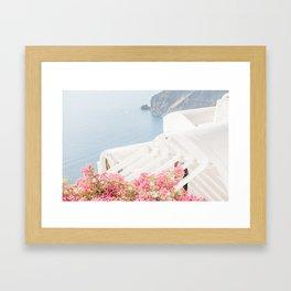 Santorini Views Framed Art Print