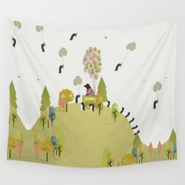 oh my how penguins fly Wall Tapestry